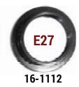 ροδελα ε27 μαυρ